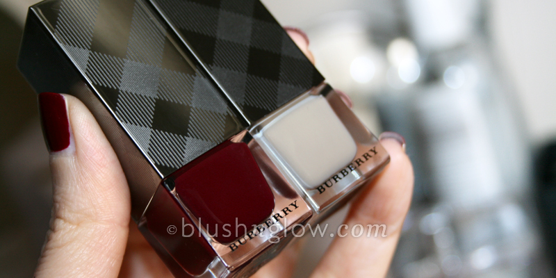 Burberry Nail Polish in Oxblood and Stone