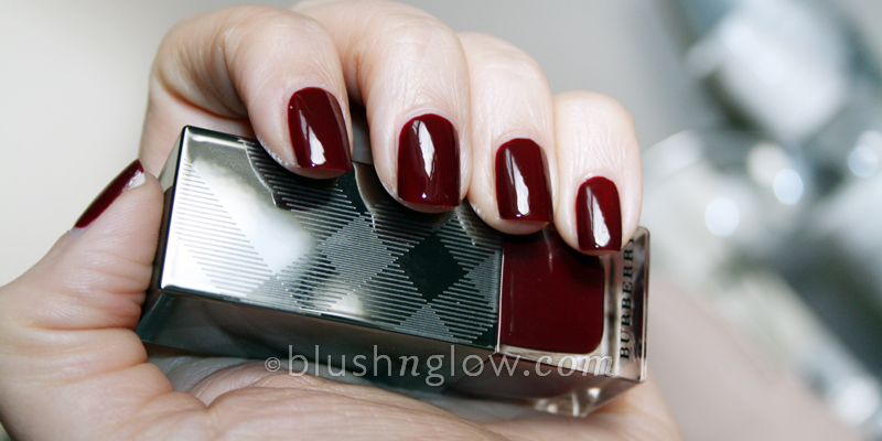 Burberry Nail Polish in Oxblood Swatch