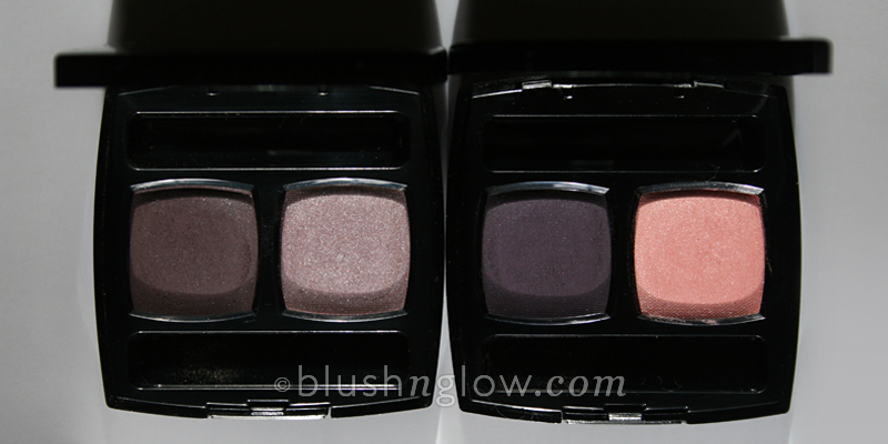 Chanel Misty Soft and Rose Majeur eyeshadow duo comparison
