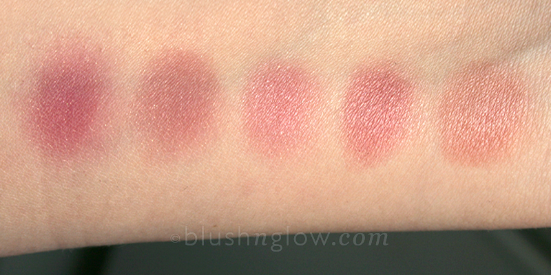 Pink-Mauve-Plum blush comparison