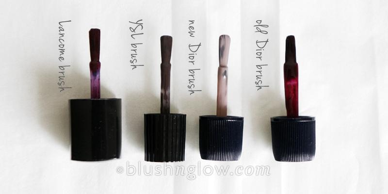 Dior YSL Lancome brush comparison