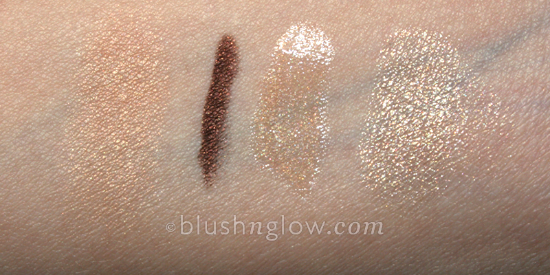Guerlain Burberry Chanel MAC swatch