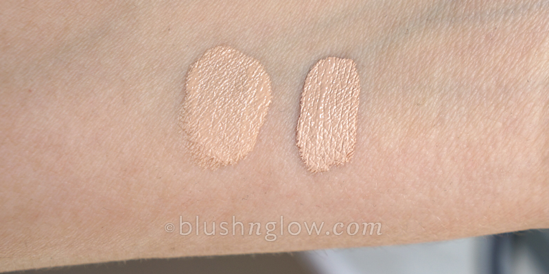 Nars Sheer Glow foundation & Radiant Creamy Concealer swatch