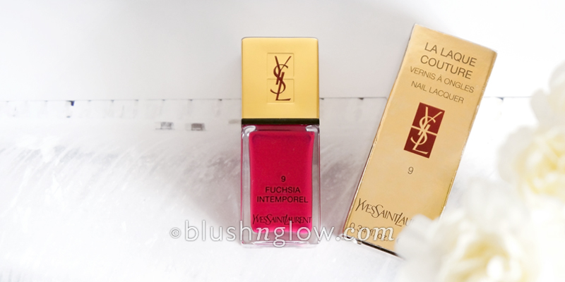 YSL fuchsia intemporel nail polish