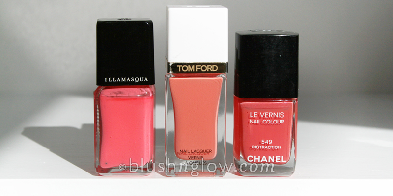 Tom Ford 03 Coral Beach nail polish  comparison