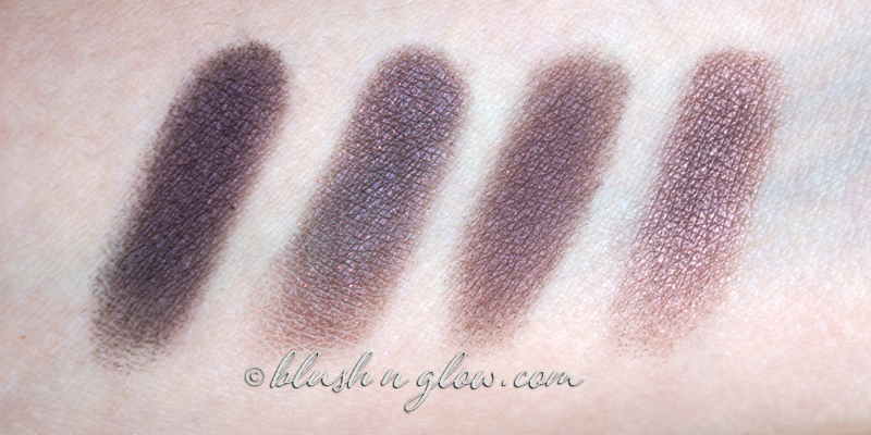 Rouge Noir vs Mulberry vs Roach vs Subra comparison swatches